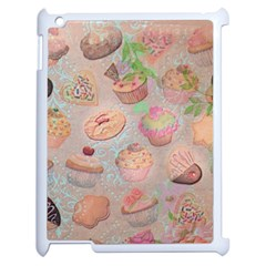 French Pastry Vintage Scripts Cookies Cupcakes Vintage Paris Fashion Apple iPad 2 Case (White)