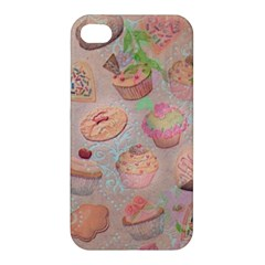 French Pastry Vintage Scripts Cookies Cupcakes Vintage Paris Fashion Apple iPhone 4/4S Hardshell Case