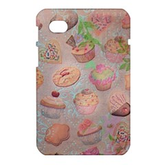 French Pastry Vintage Scripts Cookies Cupcakes Vintage Paris Fashion Samsung Galaxy Tab 7  P1000 Hardshell Case