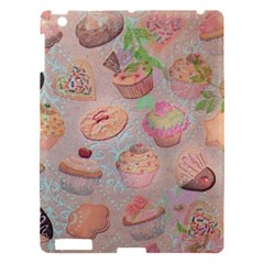 French Pastry Vintage Scripts Cookies Cupcakes Vintage Paris Fashion Apple Ipad 3/4 Hardshell Case