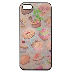 French Pastry Vintage Scripts Cookies Cupcakes Vintage Paris Fashion Apple Iphone 5 Seamless Case (black)