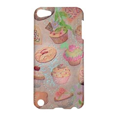 French Pastry Vintage Scripts Cookies Cupcakes Vintage Paris Fashion Apple iPod Touch 5 Hardshell Case