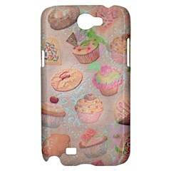French Pastry Vintage Scripts Cookies Cupcakes Vintage Paris Fashion Samsung Galaxy Note 2 Hardshell Case