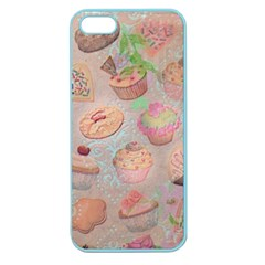 French Pastry Vintage Scripts Cookies Cupcakes Vintage Paris Fashion Apple Seamless iPhone 5 Case (Color)