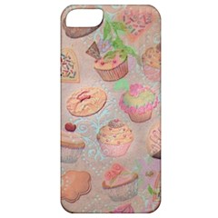 French Pastry Vintage Scripts Cookies Cupcakes Vintage Paris Fashion Apple Iphone 5 Classic Hardshell Case