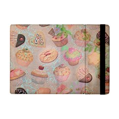 French Pastry Vintage Scripts Cookies Cupcakes Vintage Paris Fashion Apple iPad Mini Flip Case