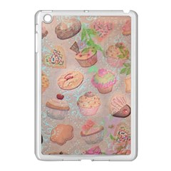 French Pastry Vintage Scripts Cookies Cupcakes Vintage Paris Fashion Apple Ipad Mini Case (white)