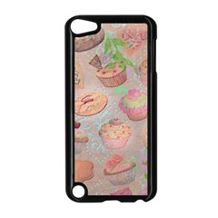 French Pastry Vintage Scripts Cookies Cupcakes Vintage Paris Fashion Apple Ipod Touch 5 Case (black)