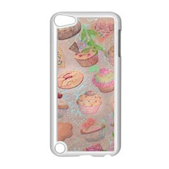 French Pastry Vintage Scripts Cookies Cupcakes Vintage Paris Fashion Apple Ipod Touch 5 Case (white)