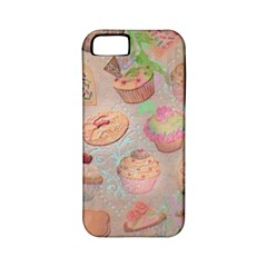 French Pastry Vintage Scripts Cookies Cupcakes Vintage Paris Fashion Apple Iphone 5 Classic Hardshell Case (pc+silicone)