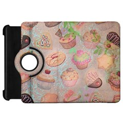 French Pastry Vintage Scripts Cookies Cupcakes Vintage Paris Fashion Kindle Fire Hd 7  Flip 360 Case