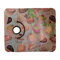 French Pastry Vintage Scripts Cookies Cupcakes Vintage Paris Fashion Samsung Galaxy S  III Flip 360 Case