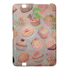 French Pastry Vintage Scripts Cookies Cupcakes Vintage Paris Fashion Kindle Fire HD 8.9  Hardshell Case