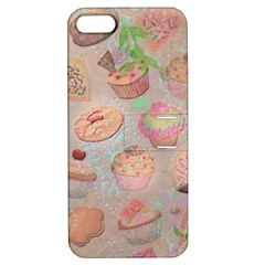French Pastry Vintage Scripts Cookies Cupcakes Vintage Paris Fashion Apple Iphone 5 Hardshell Case With Stand
