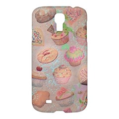 French Pastry Vintage Scripts Cookies Cupcakes Vintage Paris Fashion Samsung Galaxy S4 I9500/I9505 Hardshell Case