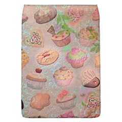 French Pastry Vintage Scripts Cookies Cupcakes Vintage Paris Fashion Removable Flap Cover (Large)