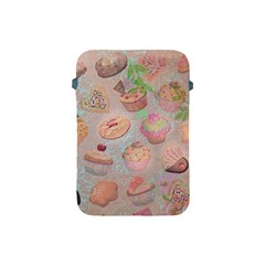 French Pastry Vintage Scripts Cookies Cupcakes Vintage Paris Fashion Apple iPad Mini Protective Soft Case