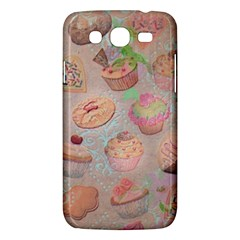 French Pastry Vintage Scripts Cookies Cupcakes Vintage Paris Fashion Samsung Galaxy Mega 5.8 I9152 Hardshell Case