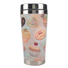 French Pastry Vintage Scripts Cookies Cupcakes Vintage Paris Fashion Stainless Steel Travel Tumbler