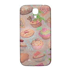 French Pastry Vintage Scripts Cookies Cupcakes Vintage Paris Fashion Samsung Galaxy S4 I9500/i9505  Hardshell Back Case
