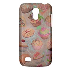 French Pastry Vintage Scripts Cookies Cupcakes Vintage Paris Fashion Samsung Galaxy S4 Mini Hardshell Case
