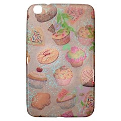 French Pastry Vintage Scripts Cookies Cupcakes Vintage Paris Fashion Samsung Galaxy Tab 3 (8 ) T3100 Hardshell Case