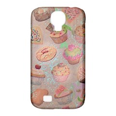 French Pastry Vintage Scripts Cookies Cupcakes Vintage Paris Fashion Samsung Galaxy S4 Classic Hardshell Case (pc+silicone)