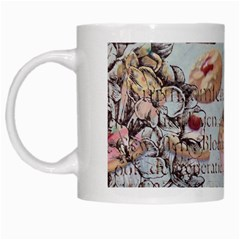 French Pastry Vintage Scripts Floral Scripts Butterfly Eiffel Tower Vintage Paris Fashion White Coffee Mug