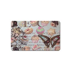 French Pastry Vintage Scripts Floral Scripts Butterfly Eiffel Tower Vintage Paris Fashion Magnet (name Card)