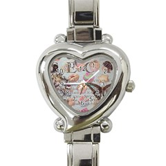 French Pastry Vintage Scripts Floral Scripts Butterfly Eiffel Tower Vintage Paris Fashion Heart Italian Charm Watch