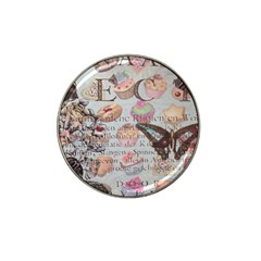 French Pastry Vintage Scripts Floral Scripts Butterfly Eiffel Tower Vintage Paris Fashion Golf Ball Marker 4 Pack (for Hat Clip)