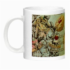 French Pastry Vintage Scripts Floral Scripts Butterfly Eiffel Tower Vintage Paris Fashion Glow in the Dark Mug