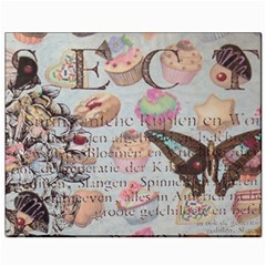 French Pastry Vintage Scripts Floral Scripts Butterfly Eiffel Tower Vintage Paris Fashion Canvas 8  x 10  (Unframed)
