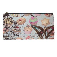 French Pastry Vintage Scripts Floral Scripts Butterfly Eiffel Tower Vintage Paris Fashion Pencil Case