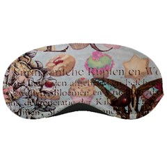 French Pastry Vintage Scripts Floral Scripts Butterfly Eiffel Tower Vintage Paris Fashion Sleeping Mask