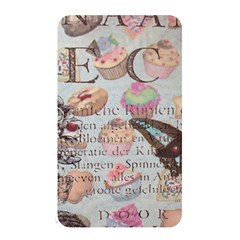 French Pastry Vintage Scripts Floral Scripts Butterfly Eiffel Tower Vintage Paris Fashion Memory Card Reader (rectangular)