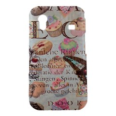 French Pastry Vintage Scripts Floral Scripts Butterfly Eiffel Tower Vintage Paris Fashion Samsung Galaxy Ace S5830 Hardshell Case