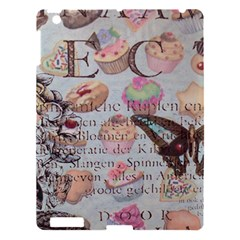 French Pastry Vintage Scripts Floral Scripts Butterfly Eiffel Tower Vintage Paris Fashion Apple iPad 3/4 Hardshell Case