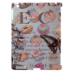 French Pastry Vintage Scripts Floral Scripts Butterfly Eiffel Tower Vintage Paris Fashion Apple Ipad 3/4 Hardshell Case (compatible With Smart Cover)