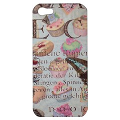 French Pastry Vintage Scripts Floral Scripts Butterfly Eiffel Tower Vintage Paris Fashion Apple Iphone 5 Hardshell Case