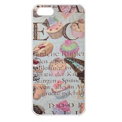 French Pastry Vintage Scripts Floral Scripts Butterfly Eiffel Tower Vintage Paris Fashion Apple Iphone 5 Seamless Case (white)