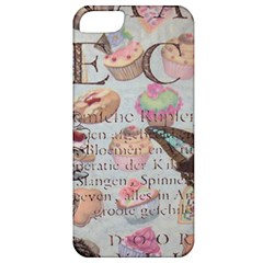 French Pastry Vintage Scripts Floral Scripts Butterfly Eiffel Tower Vintage Paris Fashion Apple Iphone 5 Classic Hardshell Case