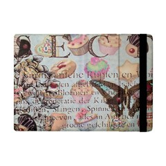 French Pastry Vintage Scripts Floral Scripts Butterfly Eiffel Tower Vintage Paris Fashion Apple Ipad Mini Flip Case