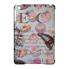 French Pastry Vintage Scripts Floral Scripts Butterfly Eiffel Tower Vintage Paris Fashion Apple iPad Mini Hardshell Case (Compatible with Smart Cover)
