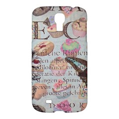 French Pastry Vintage Scripts Floral Scripts Butterfly Eiffel Tower Vintage Paris Fashion Samsung Galaxy S4 I9500/I9505 Hardshell Case