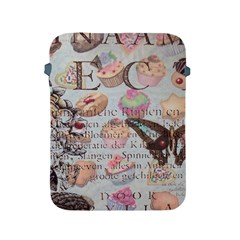 French Pastry Vintage Scripts Floral Scripts Butterfly Eiffel Tower Vintage Paris Fashion Apple iPad 2/3/4 Protective Soft Case