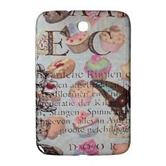 French Pastry Vintage Scripts Floral Scripts Butterfly Eiffel Tower Vintage Paris Fashion Samsung Galaxy Note 8.0 N5100 Hardshell Case