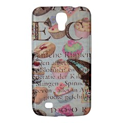 French Pastry Vintage Scripts Floral Scripts Butterfly Eiffel Tower Vintage Paris Fashion Samsung Galaxy Mega 6.3  I9200
