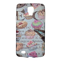 French Pastry Vintage Scripts Floral Scripts Butterfly Eiffel Tower Vintage Paris Fashion Samsung Galaxy S4 Active (i9295) Hardshell Case