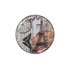 Vintage Clock Blue Butterfly Paris Eiffel Tower Fashion Golf Ball Marker 10 Pack (for Hat Clip)